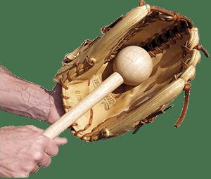Baseball glove brake in